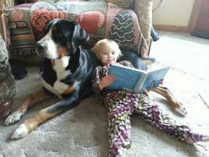 Rory reading to Cinna